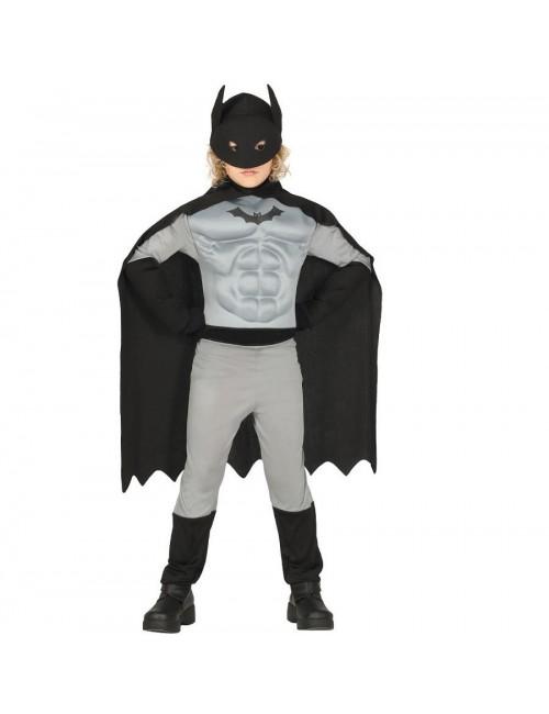 Costum, Batman Super Hero cu muschi, 3-12 ani