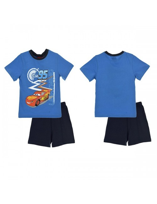 Pijamale Disney Cars, baieti 3-8 ani, albastru