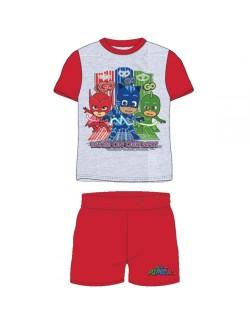 Pijama PJ Masks, gri - rosu, copii 3-8 ani
