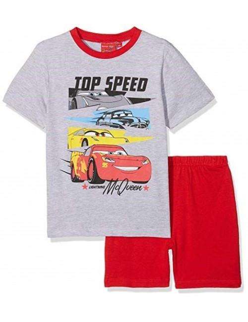 Pijama Disney Cars, copii 3-8 ani, gri-rosu
