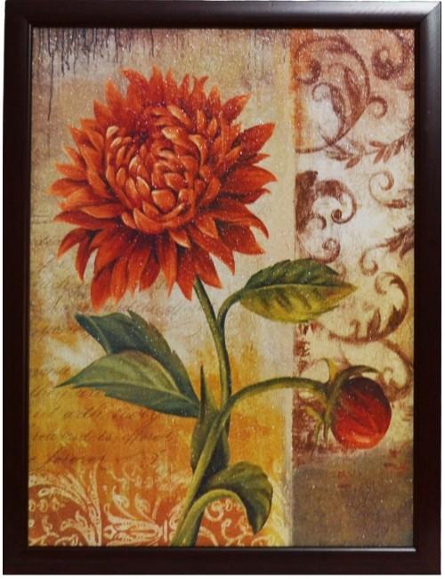 Tablou cu Crizantema, imprimat pe MDF, 42 x 32 cm