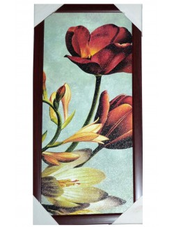 Tablou cu Flori de primavara, 46 x 22 cm