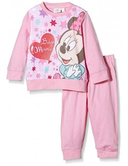 Pijama roz Minnie Mouse 12-30 luni