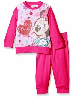 Pijama fucsia Minnie Mouse, copii 12-30 luni