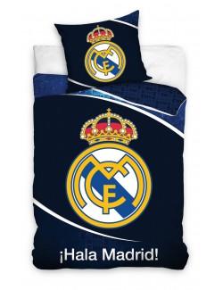 Lenjerie pat Real Madrid, bleumarin, 160 x 200 cm