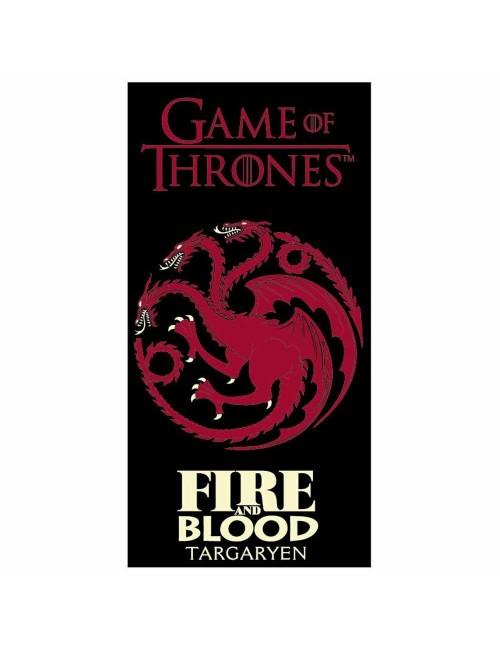 Prosop plaja Game of Thrones Targaryen, 70 x 140 cm