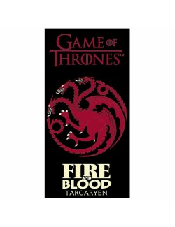 Prosop plaja Game of Thrones Targaryen, 70 x 140 cm