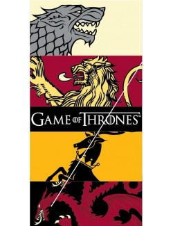 Prosop plaja Game of Thrones Sigilii, 70 x 140 cm