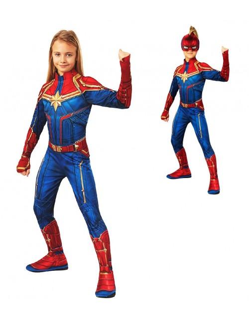 Costum Captain Marvel Hero Clasic. copii 3-8 ani