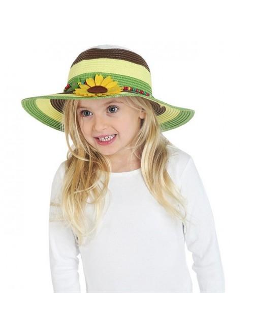 Palarie din paie, cu floarea soarelui, copii