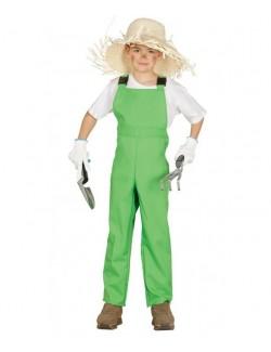 Salopeta verde Gradinar / Agricultor, copii 3-4 ani