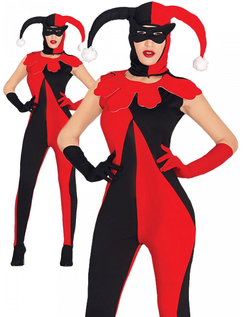 Costum Arlechin / Lady Joker, adulti