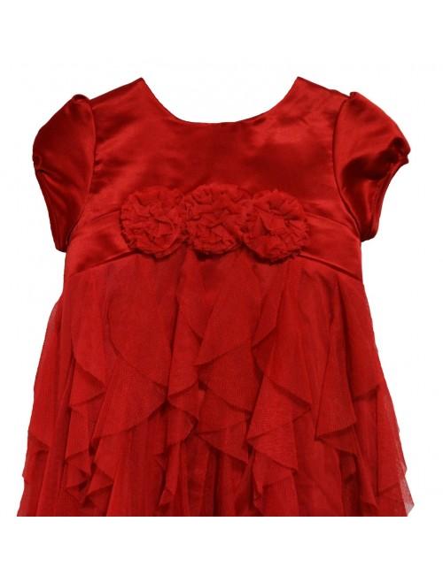 Rochie rosie, eleganta, bebelusi, 9-18 luni