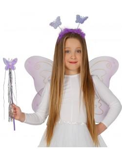 Set Fluture mov: Aripi, bentita si bagheta