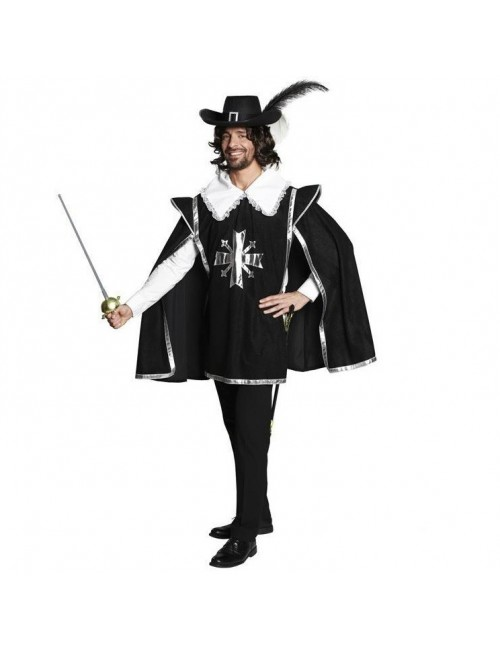 Costum carnaval barbati: Mantie Muschetar Rubies