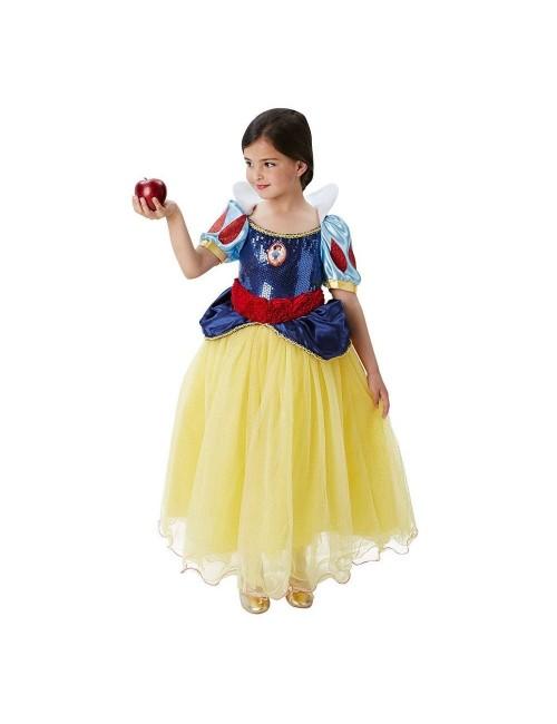 Rochie Alba ca Zapada Premium, copii 3-8 ani