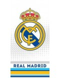 Prosop baie Real Madrid, alb-albastru, 140 x 70 cm