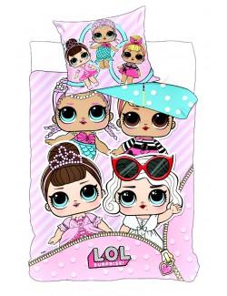Lenjerie pat copii, LOL Surprise 140 x 200 cm