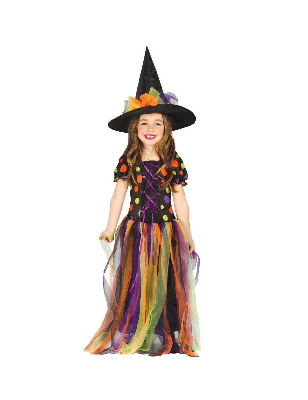 Costum Vrajitoare curcubeu, copii 3-12 ani