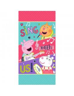 Prosop baie Peppa Pig Sing with us, 70 x 140 cm
