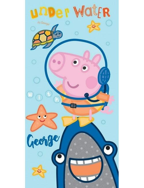 Prosop copii, Peppa Pig - George si rechinul, 70 x 140 cm