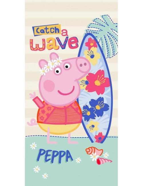 Prosop copii, Peppa Pig Surfer, 70 x 140 cm