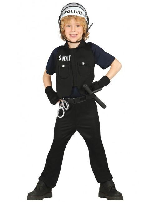 Costum Politist SWAT, pentru copii 3 - 12 ani