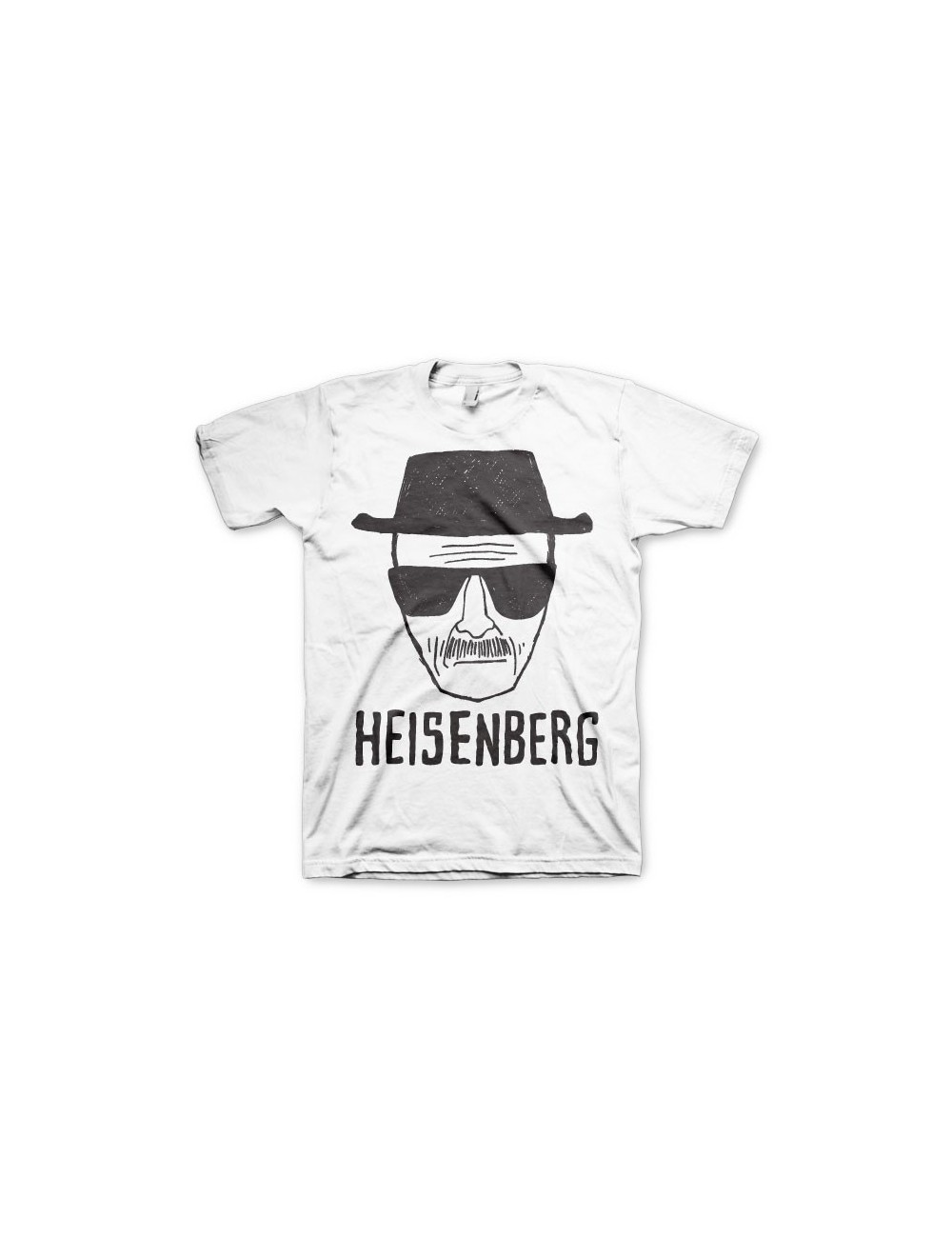 Tricou barbati Breaking Bad Heisenberg, alb