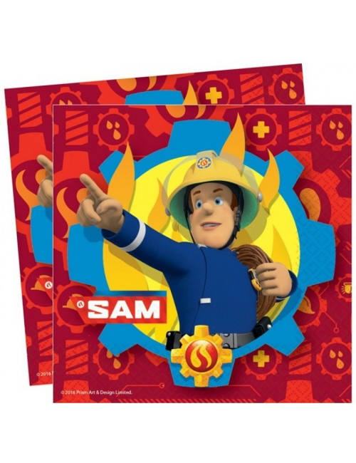 Set 20 servetele Pompierul Sam, 33x33 cm