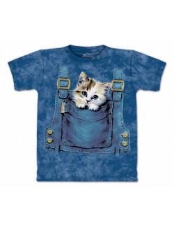 Tricou 3D, Pisicuta in buzunar, copii 4-18 ani
