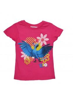 Tricou RIO, pentru fete 4 - 8 ani, fucsia