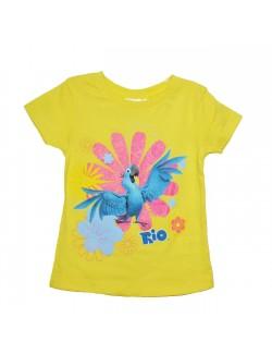 Tricou copii 4-8 ani, galben, RIO Blue