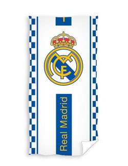 Prosop Real Madrid, alb-albastru, 140 x 70 cm