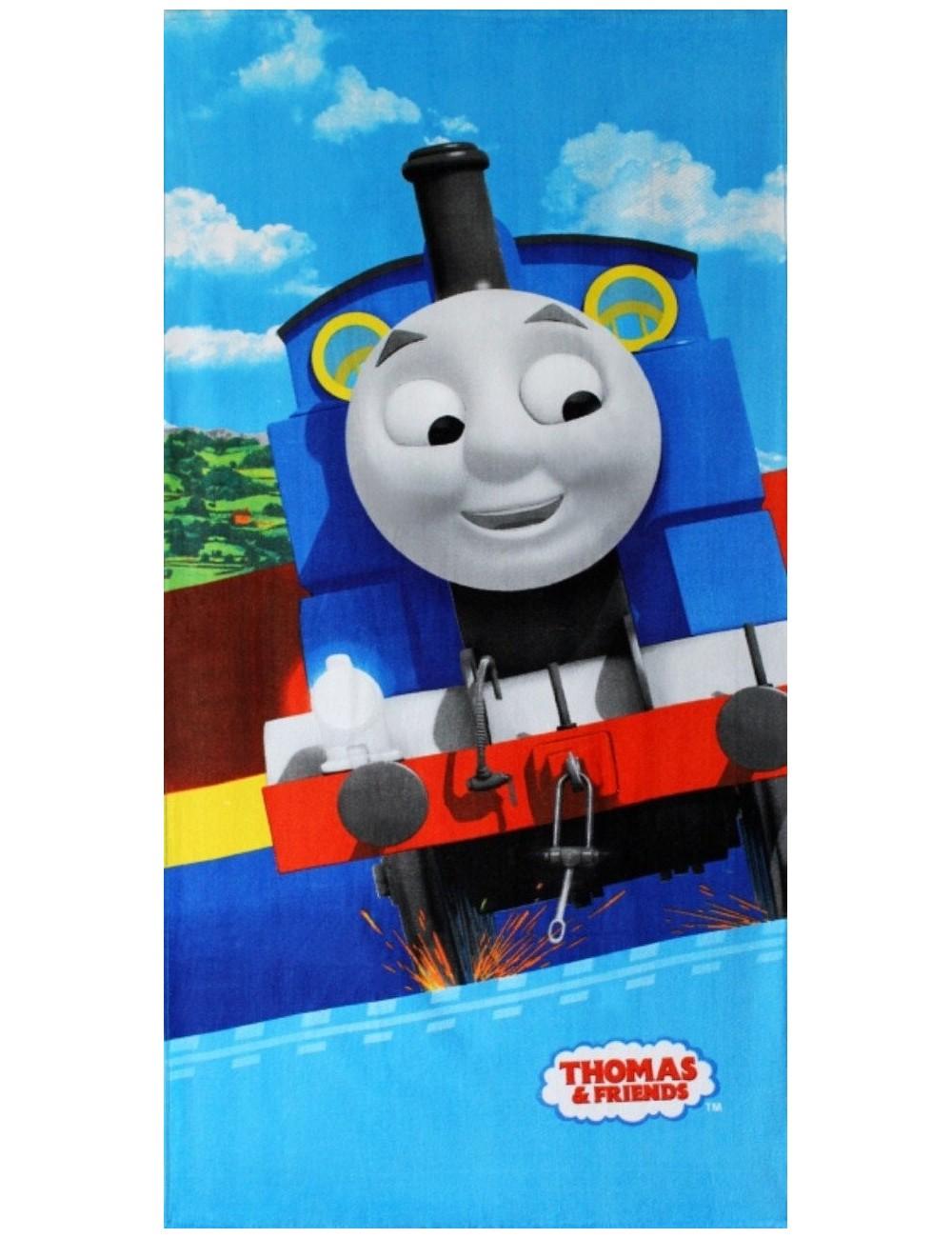 Prosop plaja copii, Locomotiva Thomas, 70 x 140 cm