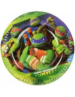 Set 8 farfurii petrecere, Testoase Ninja, 18 cm