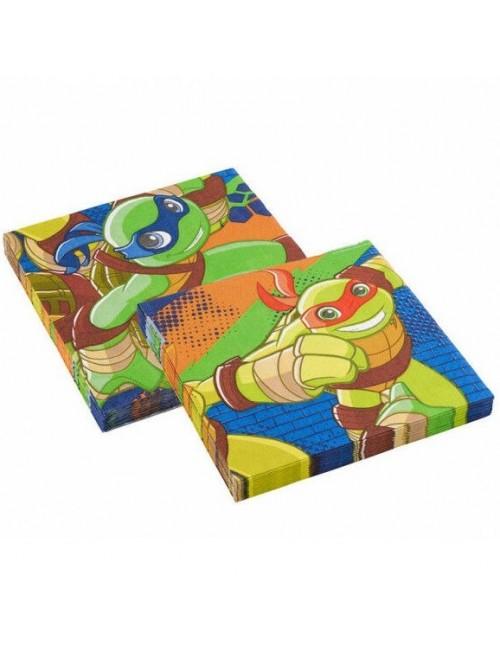 Set 20 servetele Testoase ninja Jr, 33x33 cm