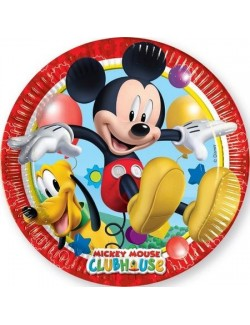Set 8 farfurii petrecere, Mickey & Pluto, 20 cm