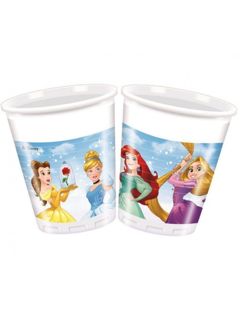 Set 8 pahare plastic, Printesele Disney