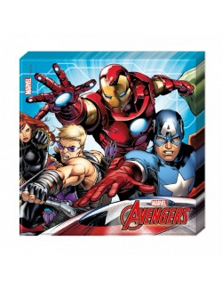 Set 20 servetele Super-eroi Avengers, 33 x 33 cm