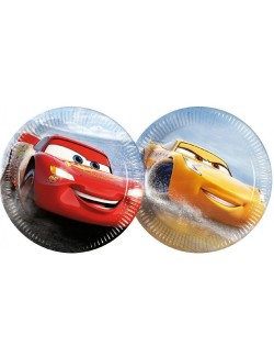 Set 8 farfurii petrecere, Disney Cars, 20 cm
