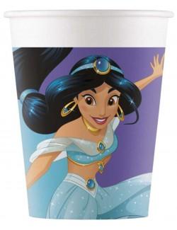 Set 8 pahare carton, Printesa Jasmine, 200 ml