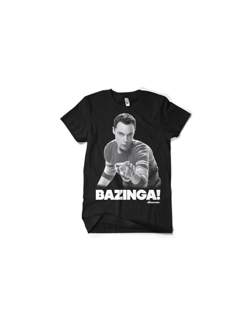 Tricou barbati Sheldon Bazinga Big Bang Theory