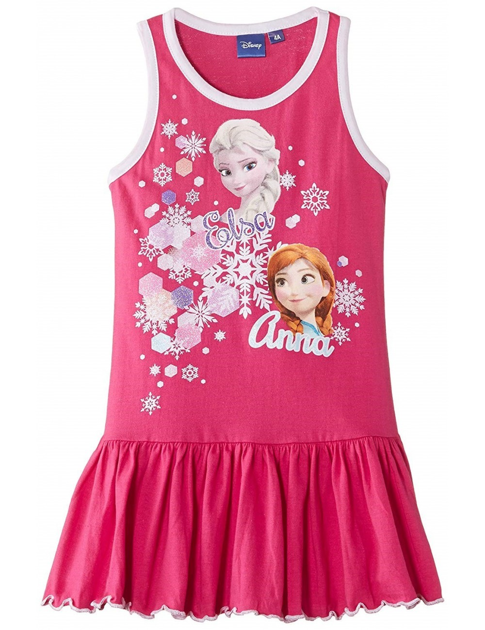 Rochie Disney Frozen copii 4 - 8 ani, fara maneci