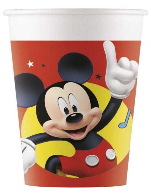 Set 8 pahare carton, Mickey Mouse, 200 ml