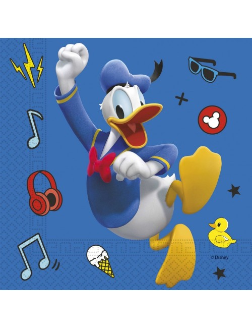 Set 20 servetele Donald Duck & Pluto, 33 x 33 cm