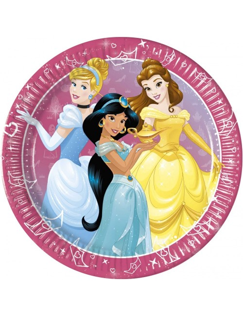 Set 8 farfurii, Printese Disney Day dream, 23 cm