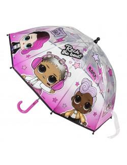 Umbrela manuala LOL Surprise, roz, 45 cm
