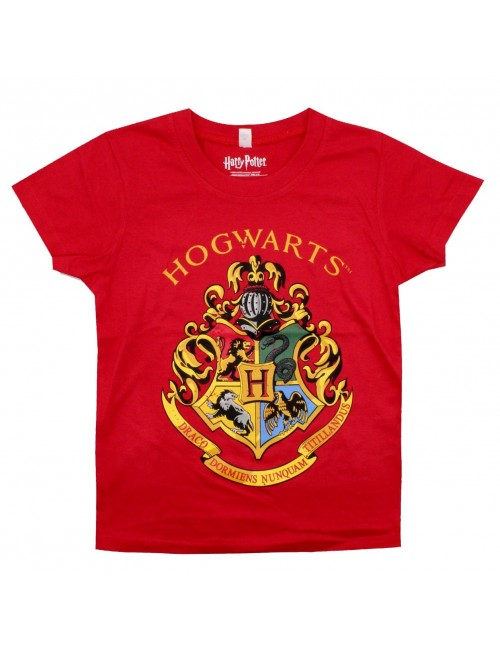 Tricou Harry Potter Hogwarts, rosu, copii 5-12 ani