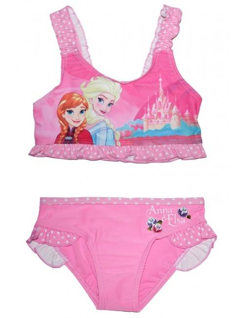 Costum baie Ana si Elsa Frozen, 2 piese, 3-9 ani