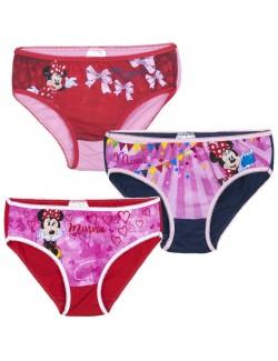 Set chiloti Minnie Mouse, 3 perechi, copii 2-8 ani